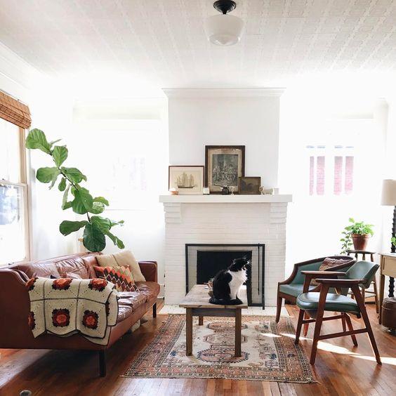 Une décoration vintage pour cette charmante maison louable sur Airbnb