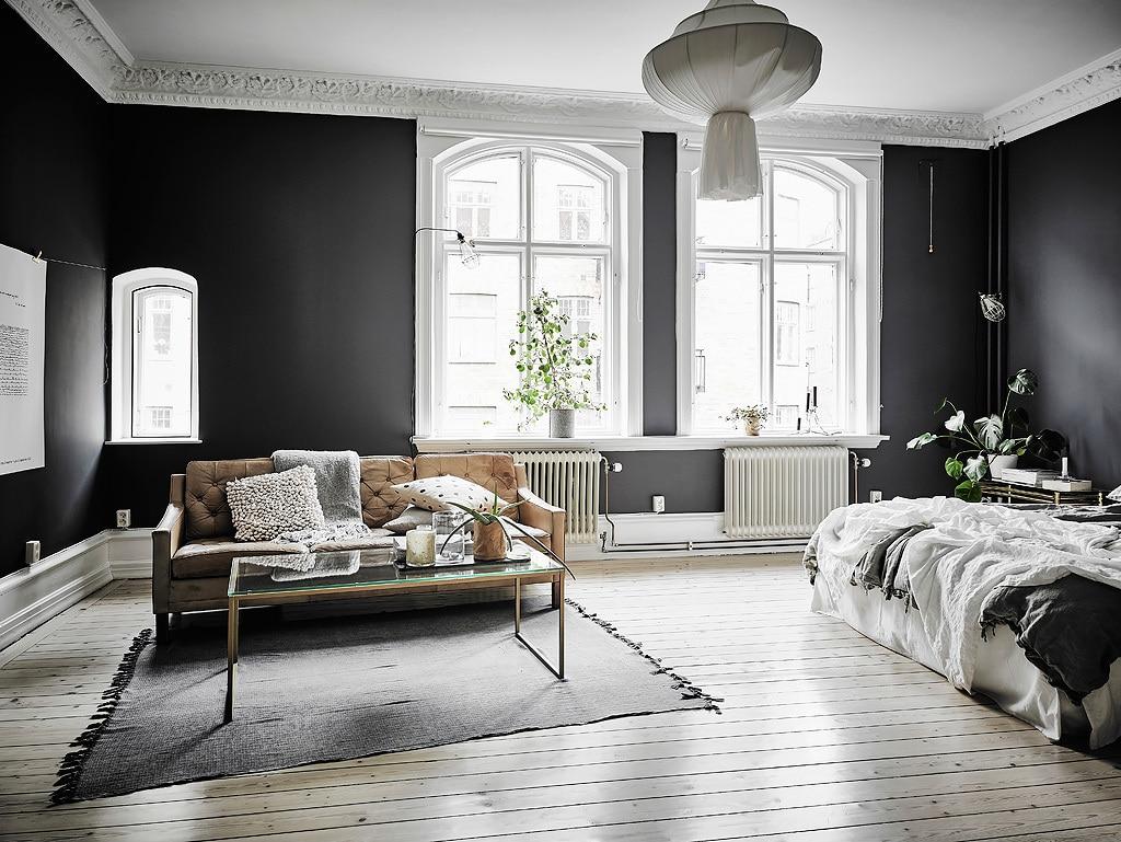 int rieur scandinave noir et blanc laissez parler le c t obscur. Black Bedroom Furniture Sets. Home Design Ideas