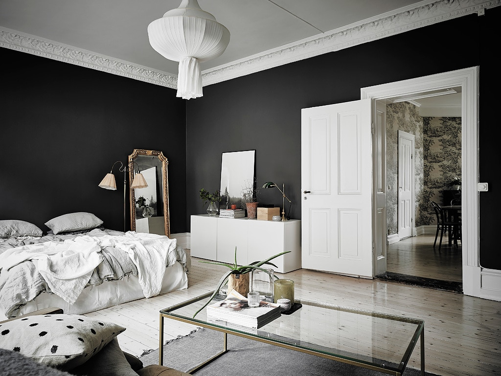 int rieur scandinave noir et blanc laissez parler le c t obscur. Black Bedroom Furniture Sets. Home Design Ideas