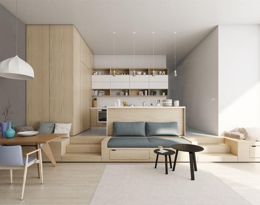 22 inspirations d co pour am nager un espace ouvert. Black Bedroom Furniture Sets. Home Design Ideas