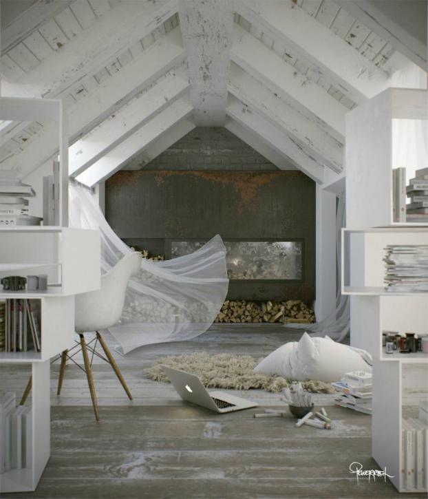 am nager des combles pour les transformer facilement en loft. Black Bedroom Furniture Sets. Home Design Ideas