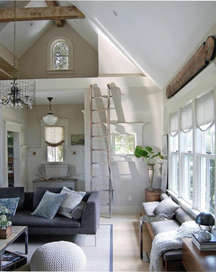 Sandra M Cavallo choisi une décoration aux tons neutres pour sa maison