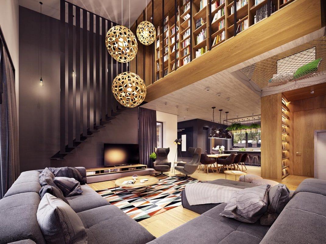 Deco Maison Rustique Good Penthouse Du Style Loft En