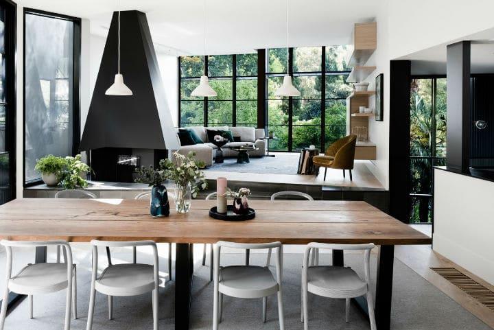 maison familiale contemporaine avec vue imprenable. Black Bedroom Furniture Sets. Home Design Ideas