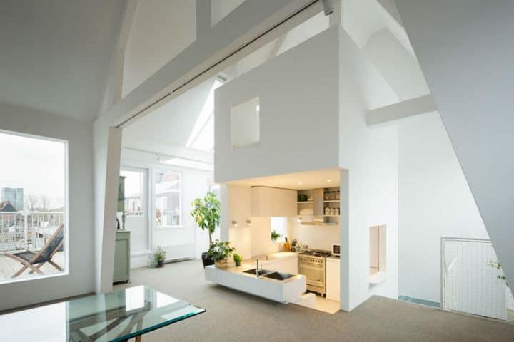 Visite d'un loft minimaliste à Amsterdam