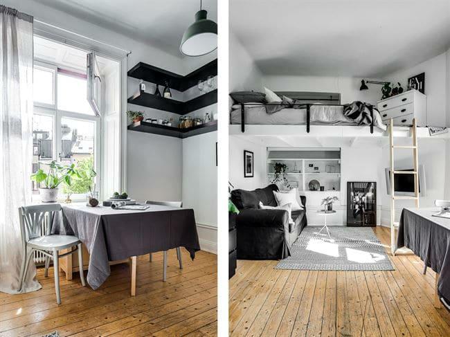 petit studio scandinave