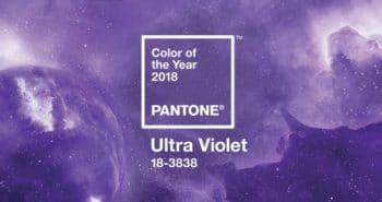 Couleur de l'année 2018 : PANTONE 18-3838 Ultra Violet