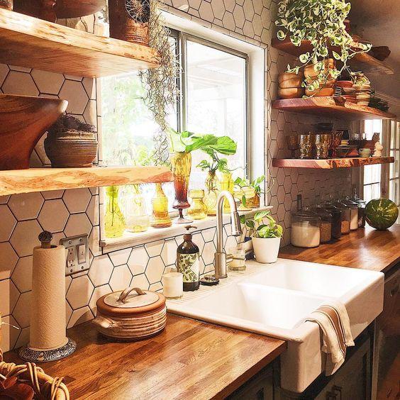 10 Inspiring Pantry Designs: 21 Cuisines Avec Une Décoration De Style Bohémien