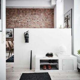 murs de briques et de la peinture blanche 15 267x267 - Des murs de brique et de la peinture blanche : l'accord parfait de la déco !