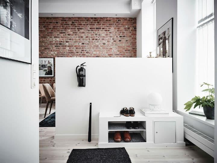 murs de brique et de la peinture blanche l 39 accord parfait de la d co. Black Bedroom Furniture Sets. Home Design Ideas