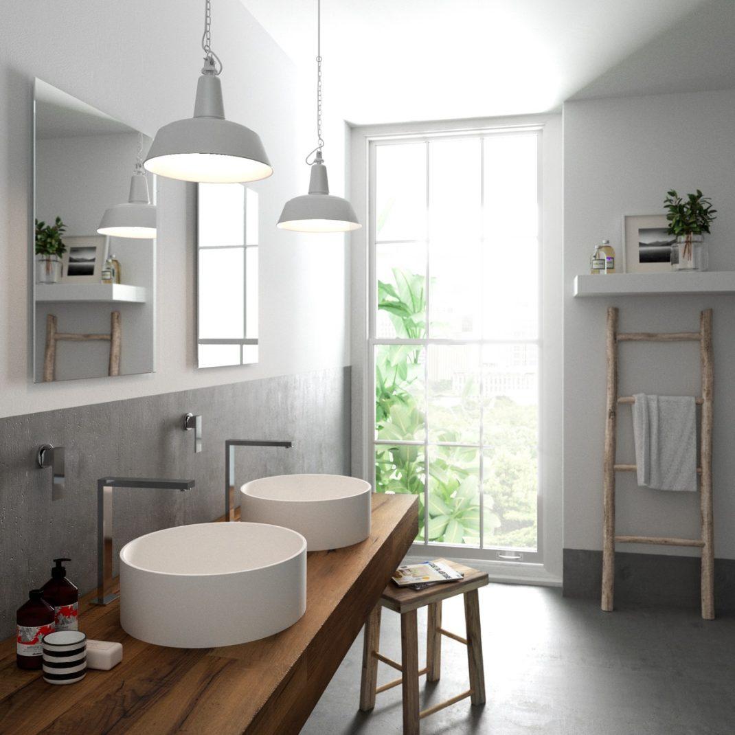 40 id es de salles de bain double vasques hyper d co. Black Bedroom Furniture Sets. Home Design Ideas