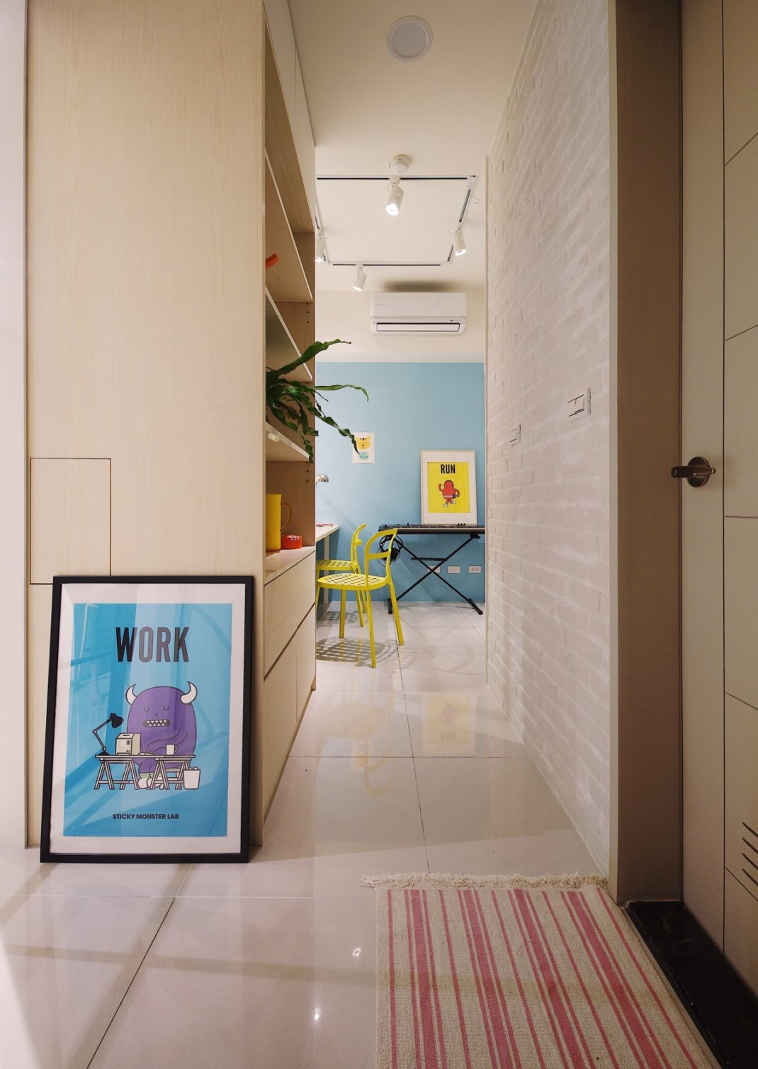 A Lentil Design rénove un petit appartement de moins de 50 mètres carrés