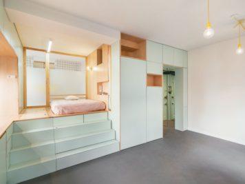 Ce micro appartement Madrilène est rempli de surprises cachées 3 356x267 - Ce micro appartement Madrilène est rempli de surprises cachées