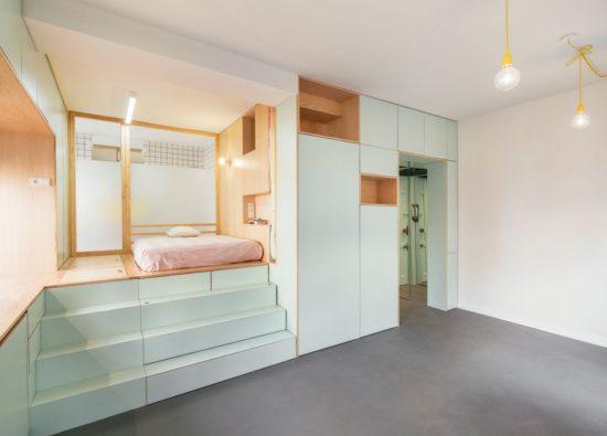 Ce micro appartement Madrilène est rempli de surprises cachées 3 550x395 - Ce micro appartement Madrilène est rempli de surprises cachées 3