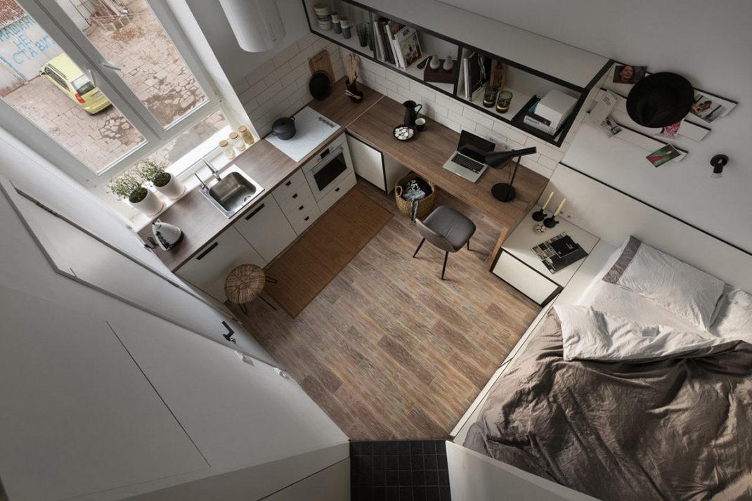Agencer un studio de mois de 18 mètres carrés n'est pas si difficile que ça
