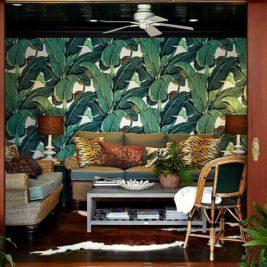 Papier peint tropical 25 manières tendances d'ajouter de verdure et de la couleur