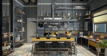 Tendances cuisine pour 2018: look industriel