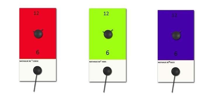 Horloges design :l'horloge nuancier by Nathalie Be