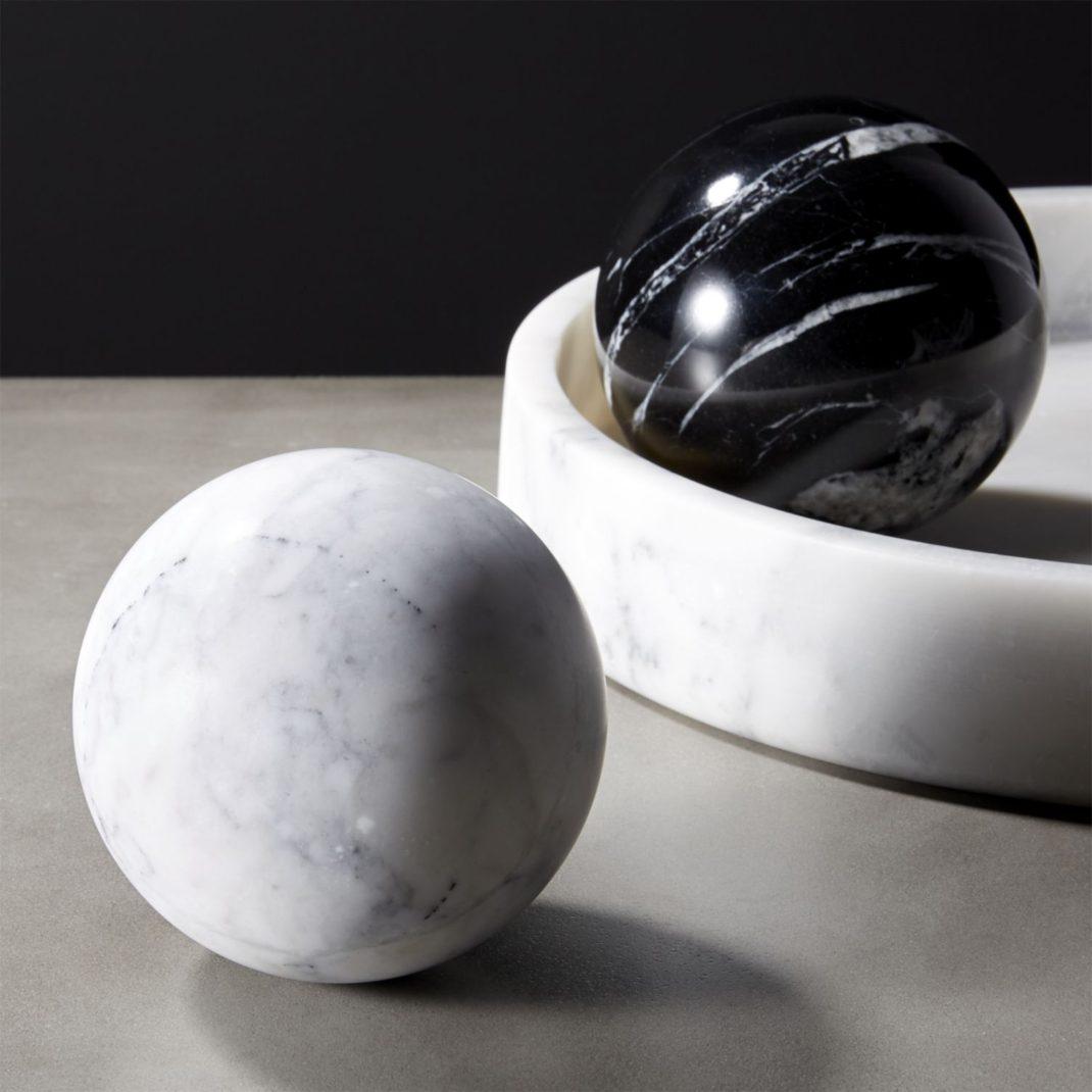 Objets déco tendances en marbre sphères