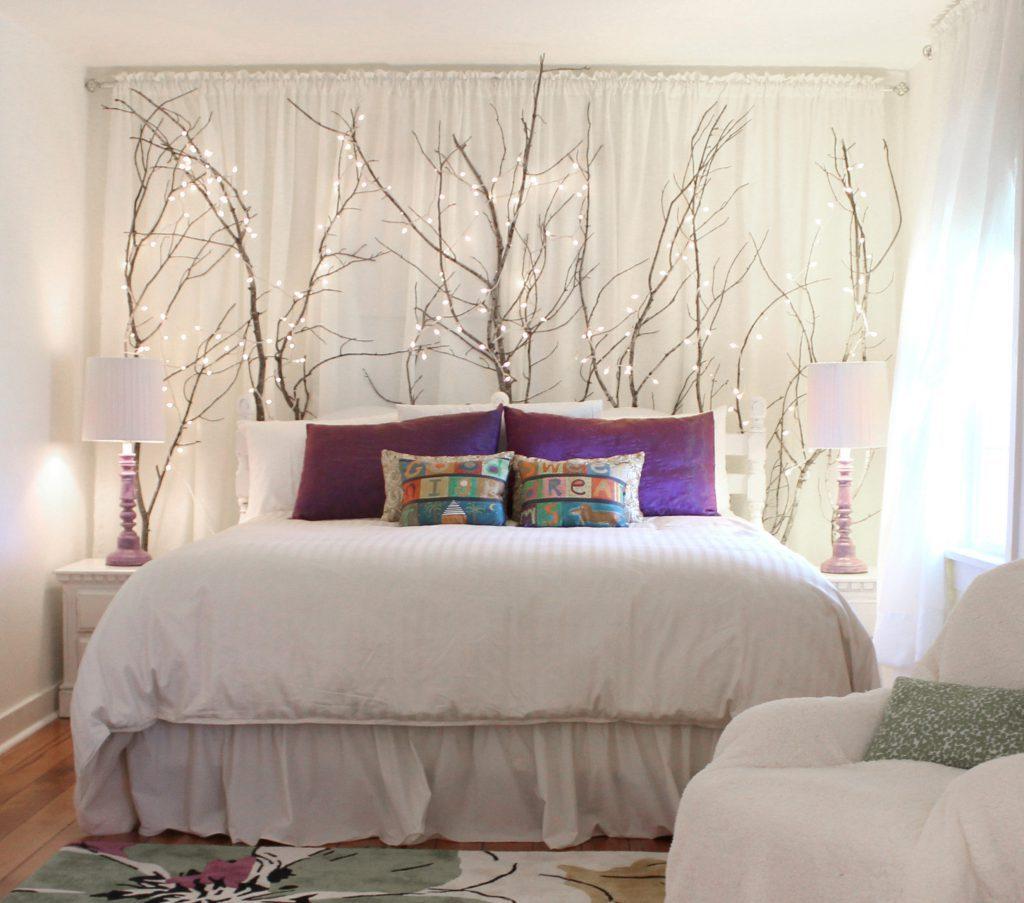 Têtes de lit créatives des rideaux