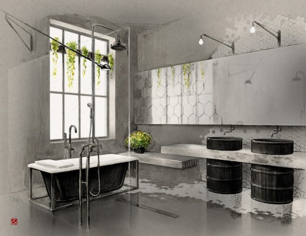 salles de bains de style industriel 22