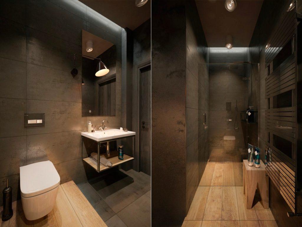 salles de bains de style industriel 34