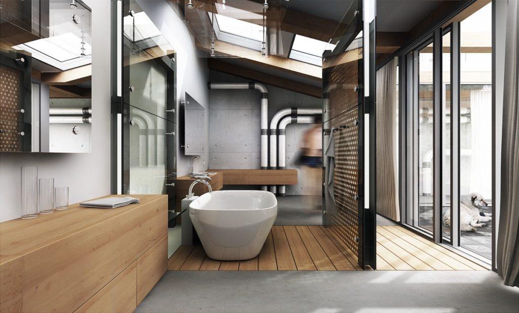 salles de bains de style industriel 37