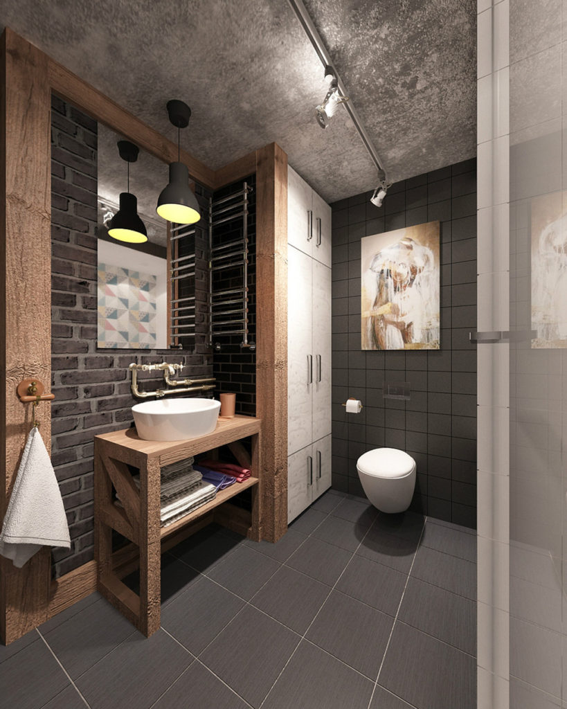 salles de bains de style industriel 49