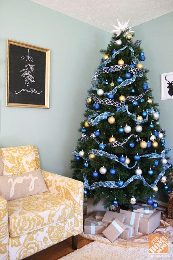 Décorations de sapins de Noëlbleu