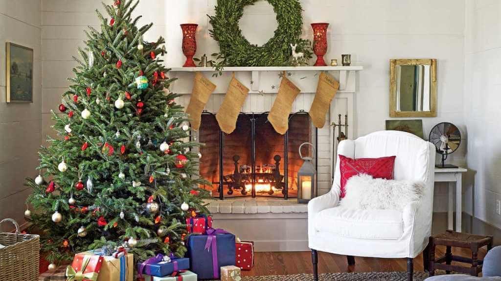 Décorations de sapins de Noëlclassique