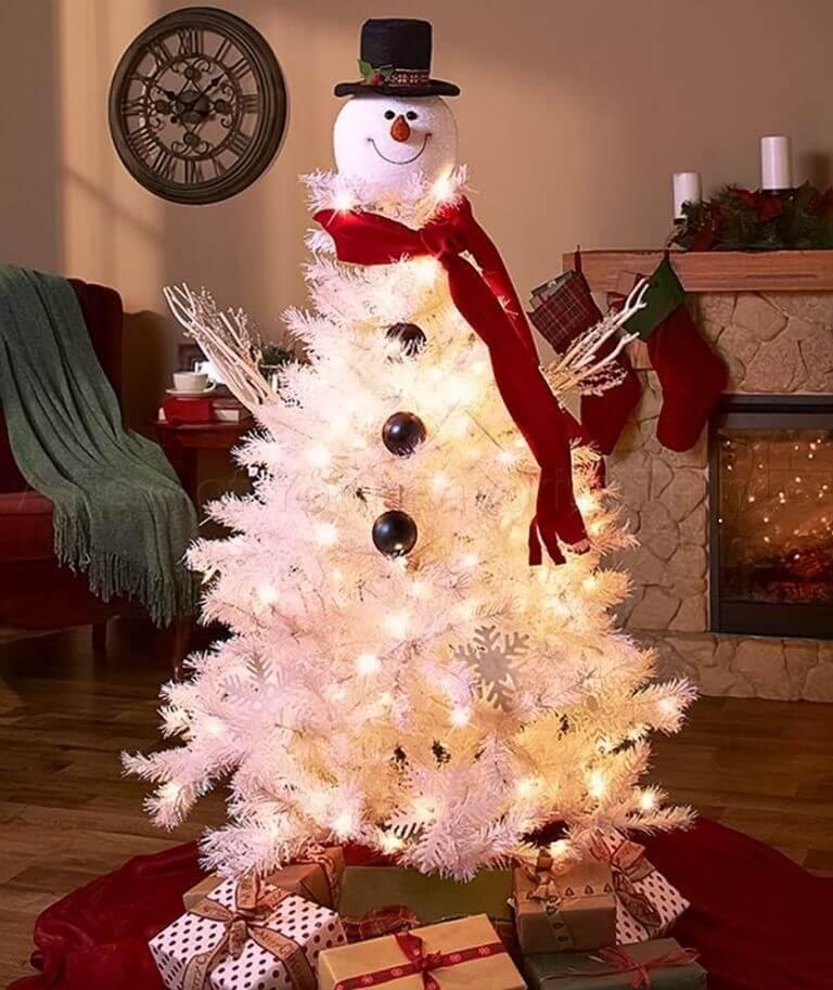 Décorations de sapins de Noëlle bonhomme de neige