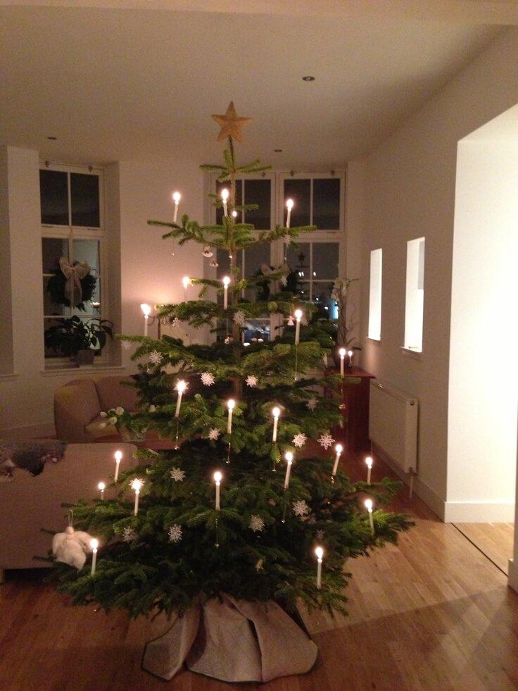 Décorations de sapins de Noël les bougies