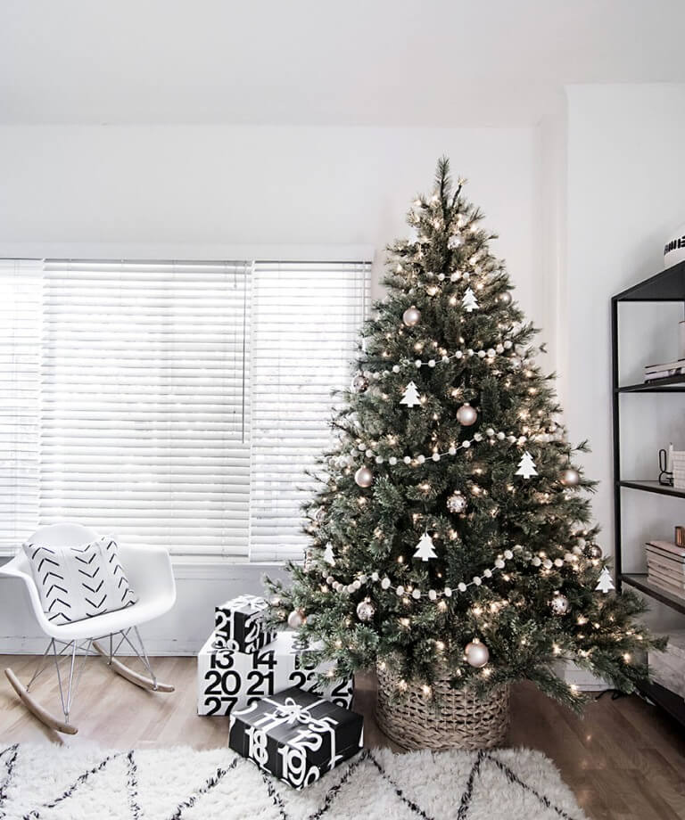 Décorations de sapins de Noëlminimaliste scandinave