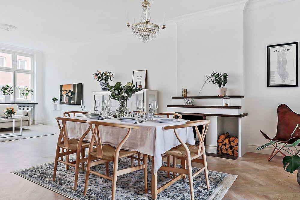 d corer une salle manger en blanc et la rendre lumineuse et tendance. Black Bedroom Furniture Sets. Home Design Ideas
