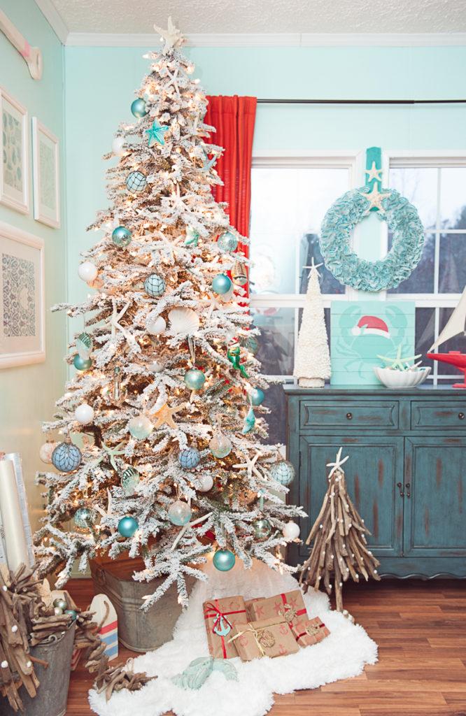 Idées de décoration de sapin de Noël Côtier et plage