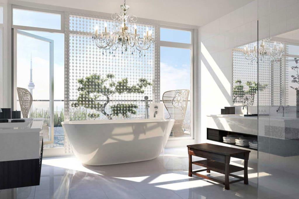 tendances d co 2019 pour les salles de bain et les salles. Black Bedroom Furniture Sets. Home Design Ideas