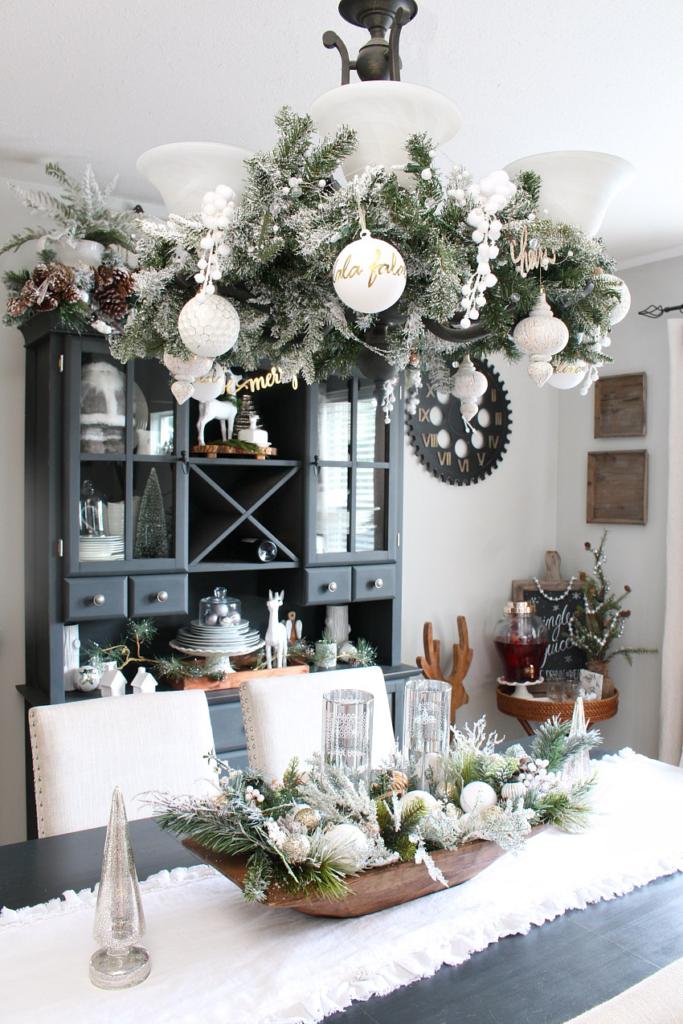 Centres de table de Noël: du charme