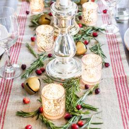 Centres de table de Noël: verre au mercure
