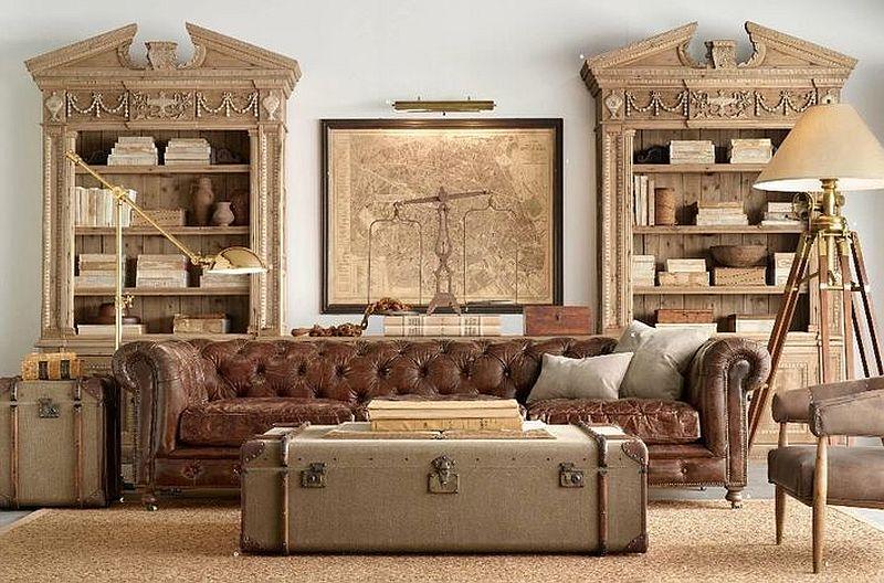 Tables basses valise et coffre25 idées déco qui associent le vintage à la vivacité 16