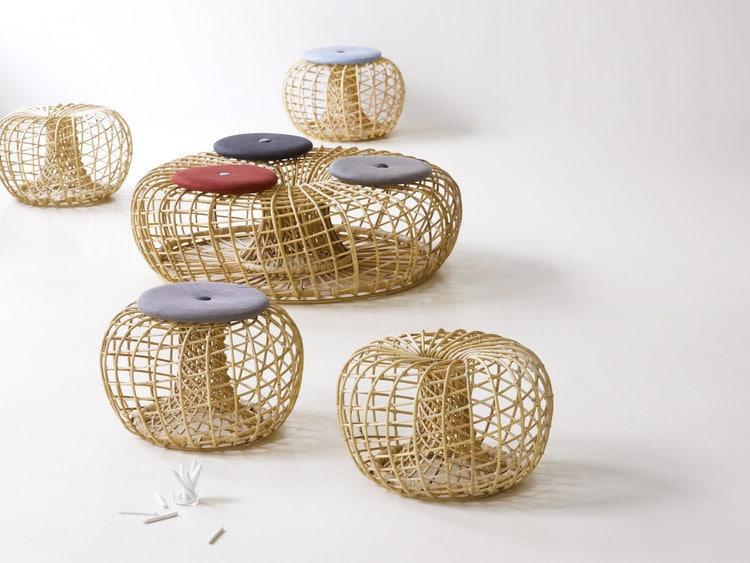 Tables basses originales -Nest de Johannes Foersom et Peter Hiort-Lorenzen