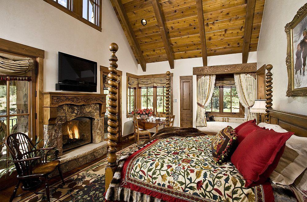 Des chambres rustiques avec une touche de couleur et des motifs 8