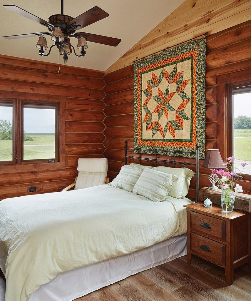 Des chambres rustiques avec une touche de couleur et des motifs