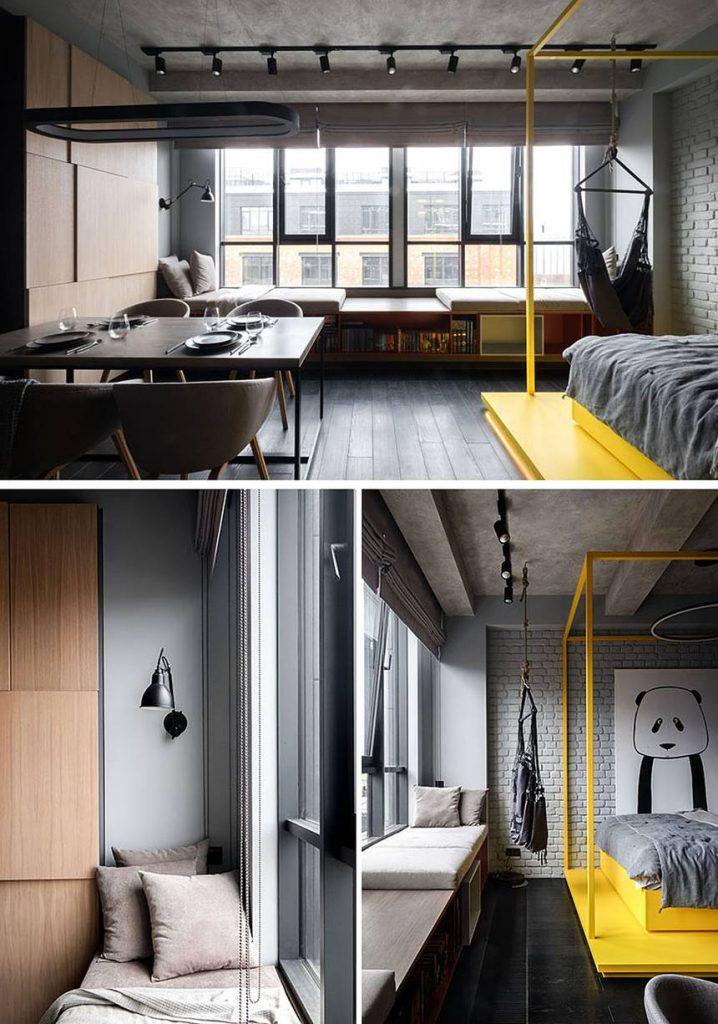 Découvrez l'incroyable décoration monochromatique de cet appartement 2