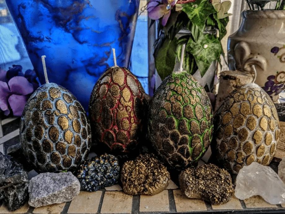 Les bougies œufs de dragon – 25 dollars