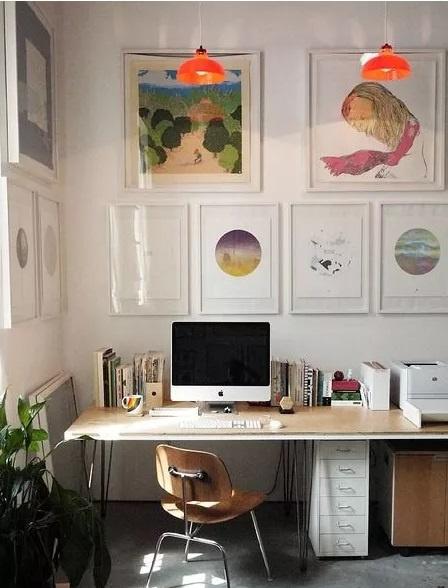 Une galerie d'art à la maison