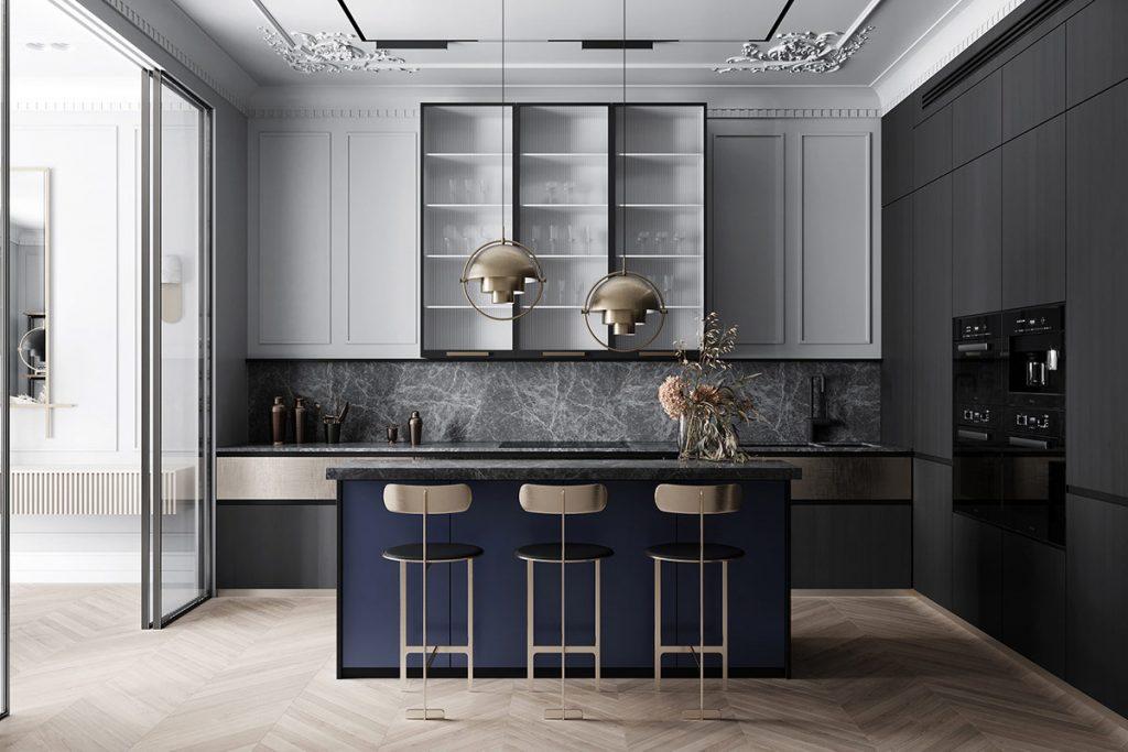 décoration d'intérieur néoclassique à base de gris 4