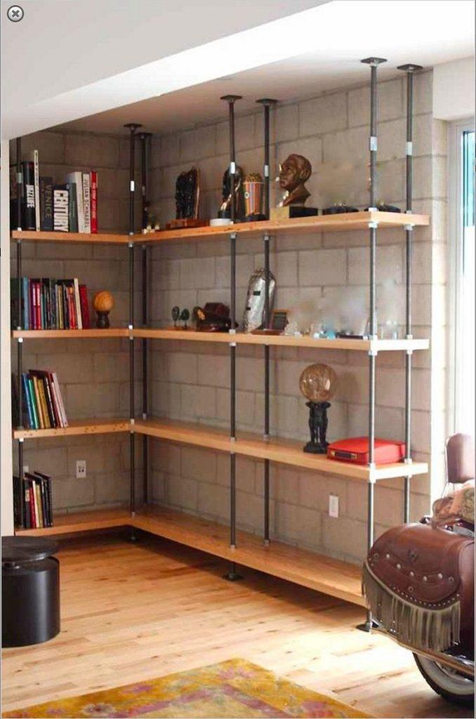 Décors de salons chicsétagères bois et métal 3