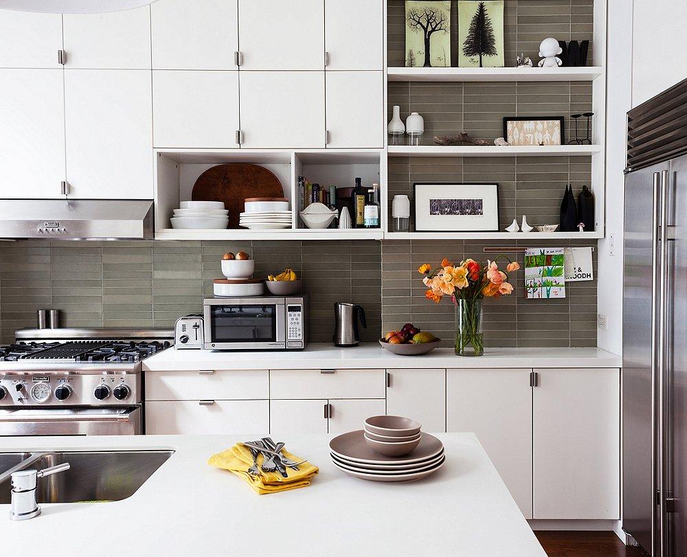 Dernières tendances de cuisineles étagères ouvertes