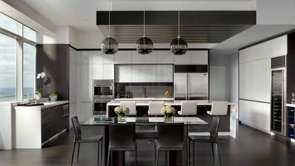 Dernières tendances de cuisineun espace ouvert