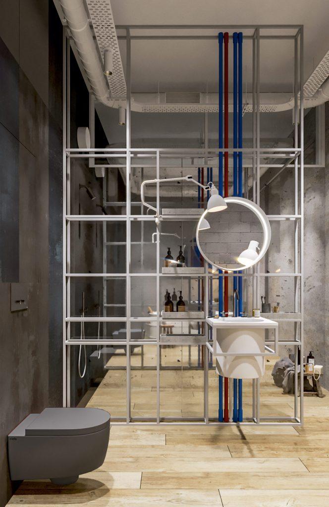 Une maison de style industriel avec une torsion colorée 8